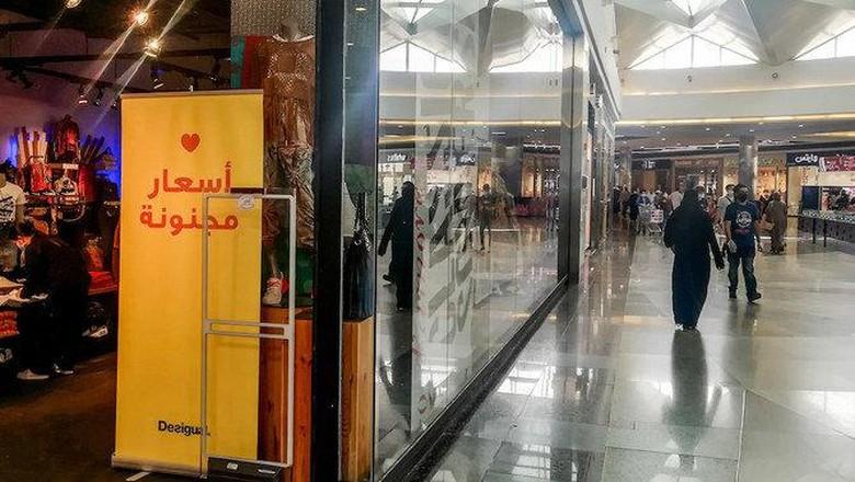 Pusat Perbelanjaan yang dibuka kembali di ibukota Saudi, Riyadh,
