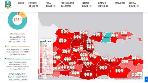 Peta yang diunggah http://infocovid19.jatimprov.go.id/#peta menyatakan, tidak ada kasus COVID-19 di Kabupaten Sampang, Jawa Timur. Lokasi Sampang berada di antara Bangkalan dan Pamekasan yang masih ditemukan kasus COVID-19. Karena itu sangat disarankan tidak terlalu sering bepergian dan menggunakan masker. Jawa Timur masih menerapkan kebijakan PSBB khas zona merah, bukan lagi kuning atau oranye sehingga semua warga hanya boleh bepergian dalam kondisi mendesak.