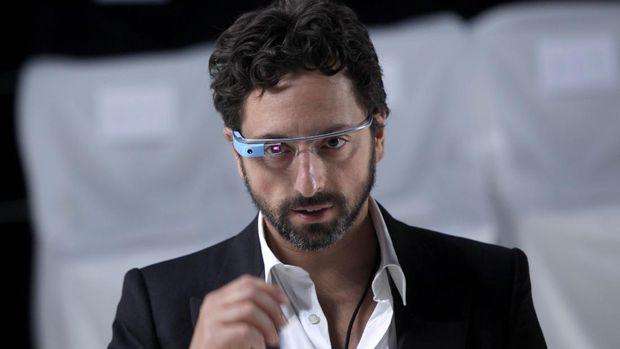 Google co-founder Sergey Brin wears Google Glass  speaks before the Diane Von Furstenberg Spring 2013 show during Fashion Week in New York, Sunday, Sept. 9, 2012.  (AP Photo/Seth Wenig)