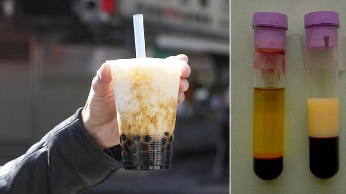 Efek minum bubble tea, warna plasma darah putih susu