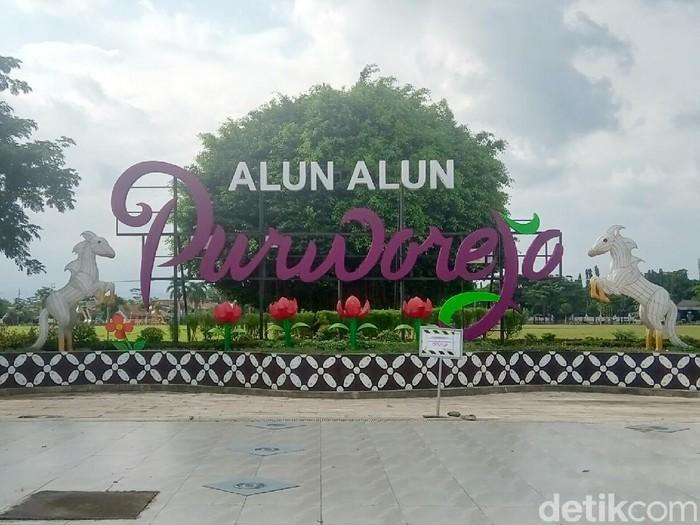 Alun-alun Purworejo, Minggu (10/5/2020).