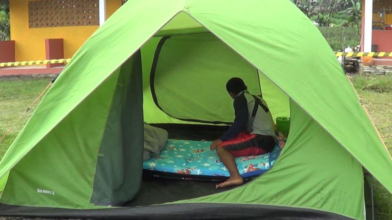 Tenda di Telaga Madirda untuk pemudik