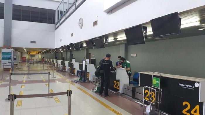Suasana di Bandara Internasional Minangkabau (Jeka Kampai-detikcom)
