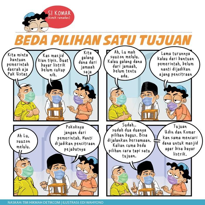 Komik Ramadhan, Beda Pilihan Satu tujuan