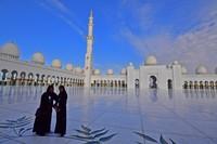 Masjid Sheikh Zayed mampu menampung 40 ribu jamaah dalam satu waktu sholat. (AFP/GIUSEPPE CACACE)