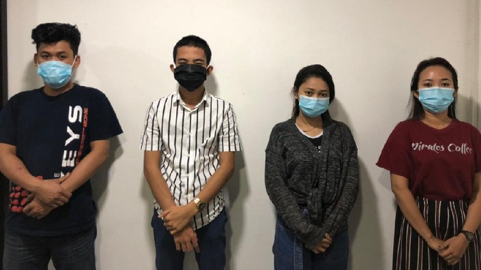 Anisa Rahma (20) dan rekannya diamankan polisi setelah nge-prank kejang-kenag terkena virus Corona (dok. Istimewa).