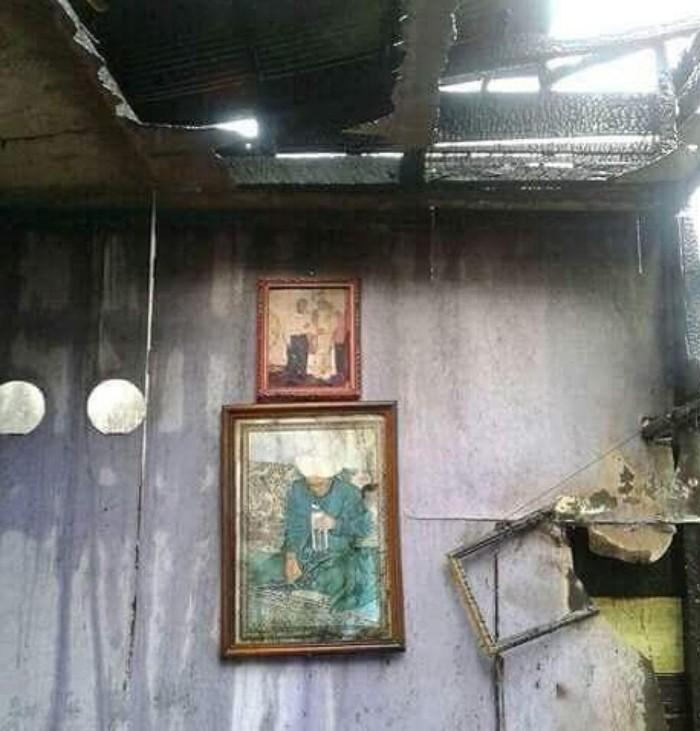 Gambar ulama Guru Sekumpul tak ikut terbakar (dok. Istimewa)