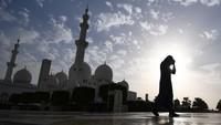 Selama dua tahun beruntun, Masjid Sheikh Zayed masuk daftar peringkat kedua tempat favorit pelancong. (AFP/GIUSEPPE CACACE)