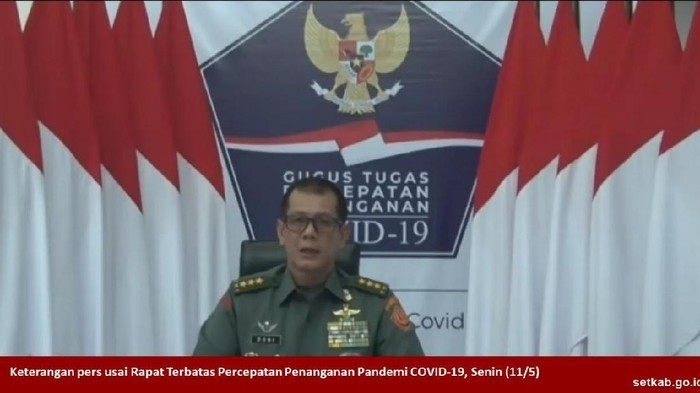 Kepala BNPB Doni Monardo (Screenshot YouTube Seskab)