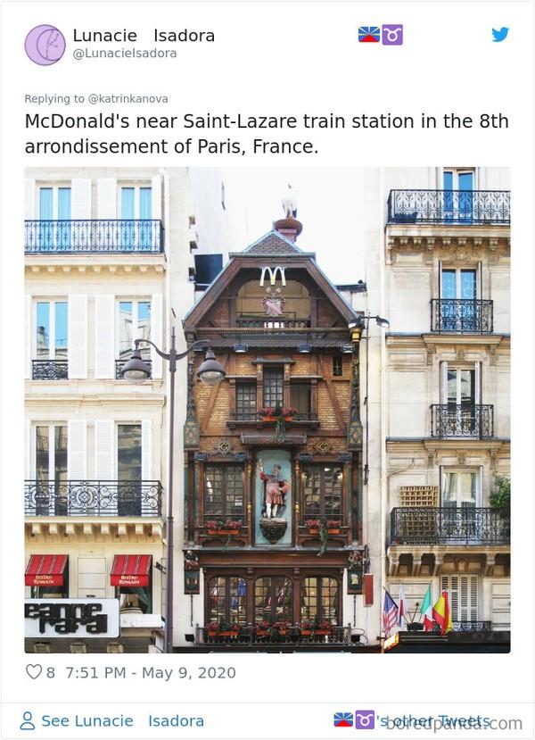 Ini adalah McDonalds di dekat Stasiun Staint Lazare, Paris, Prancis. (Bored Panda)