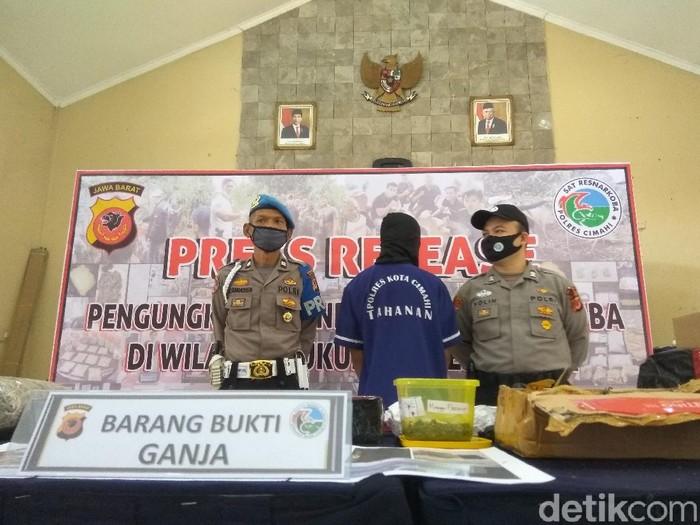 Pelajar SMP Bandung Barat jadi bandar ganja jaringan Lapas di Sumbar