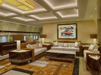 Inilah ruang inti dari pesawat: salon! Salon ini memiliki tiga sofa yang bagus untuk pertemuan atau sekadar bersantai. Istimewa/Dok. Boredpanda/albertopinto.