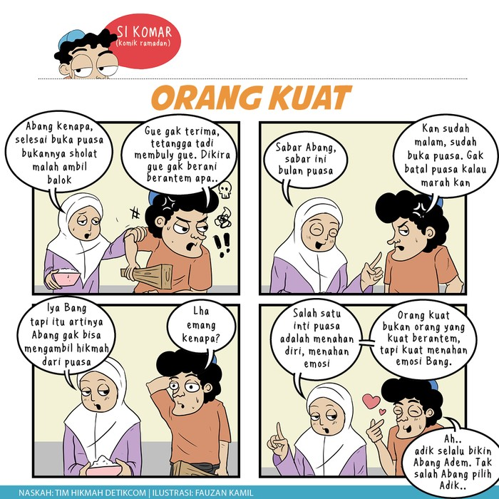 Komik Ramadhan, orang kuat