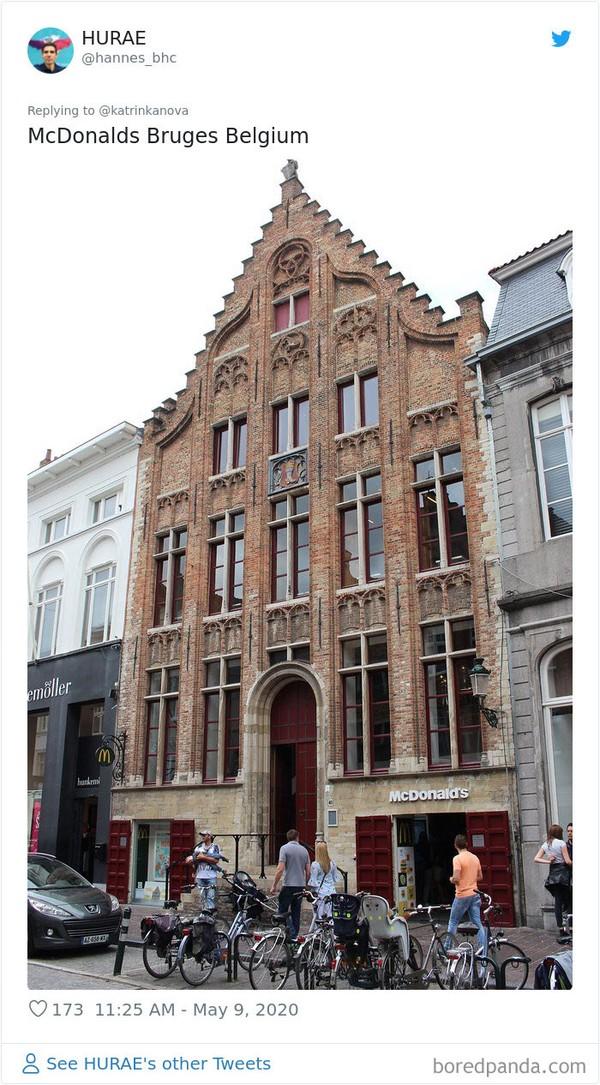 Keren nih, McDonalds Bruges Belgia. (Bored Panda)
