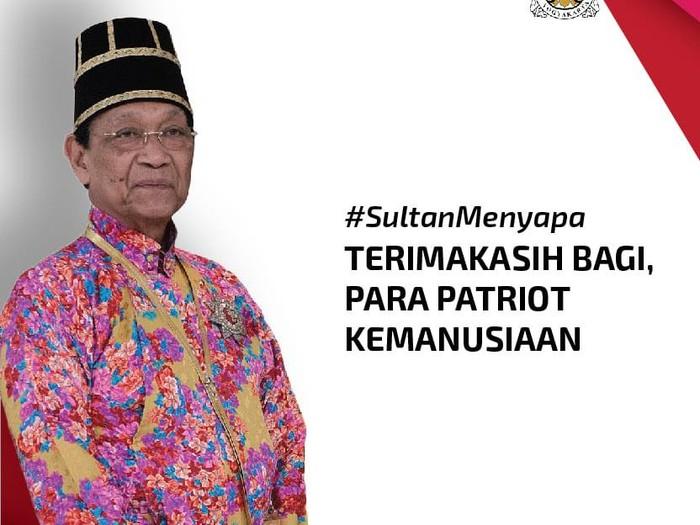 Sultan HB X menyapa, Selasa (12/5/2020).