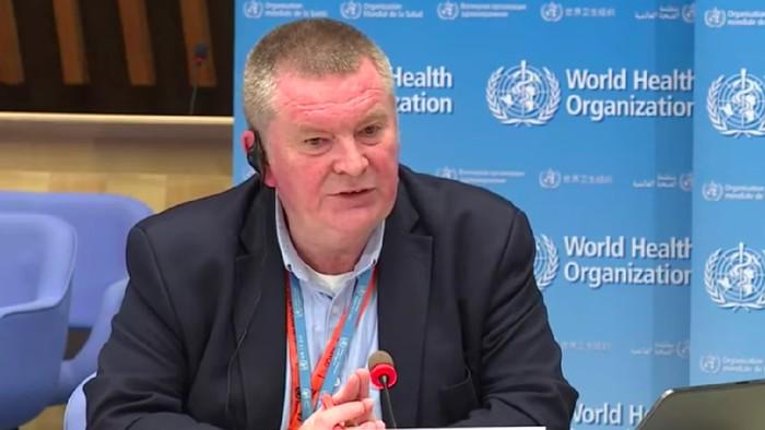 Direktur Kegawatdaruratan Kesehatan WHO, Michael Ryan. (Tangkapan layar YouTube United Nations)