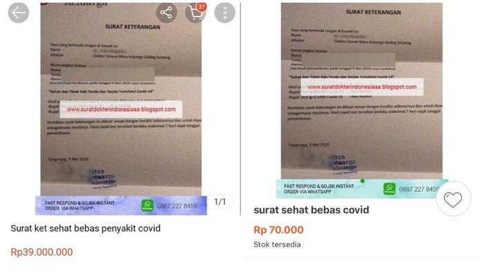 Viral Surat Bebas Covid Dijual Online Rp 70 Ribu Ini Kata Dekan Fkui
