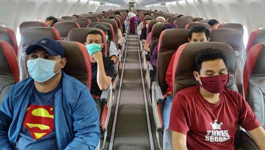 Kapasitas Penumpang Pesawat Naik Bertahap Sampai Penuh