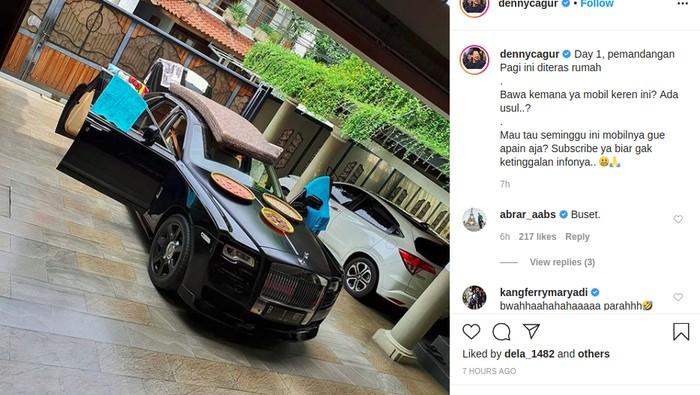 Rolls-Royce Raffi Dipakai Jemur Kasur