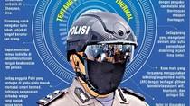 Keren! Polda Riau Pakai Helm Robocop Deteksi Virus Corona