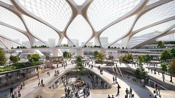 Seperti ini gambaran stasiun Hyperloop di masa depan. Hyperloop dipercaya akan merevolusi dunia transportasi massal. (dok. Hardt Hyperloop)