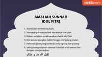 6 Amaliah Sunah Idul Fitri: Mandi, Takbir hingga Pakai Minyak Wangi