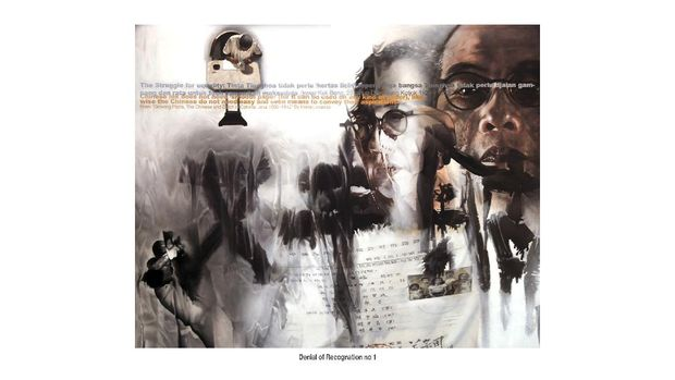 Karya FX Harsono 'Denial of Recognation No.1'