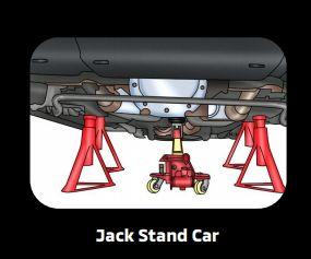Parkir mobil dengan jack stand
