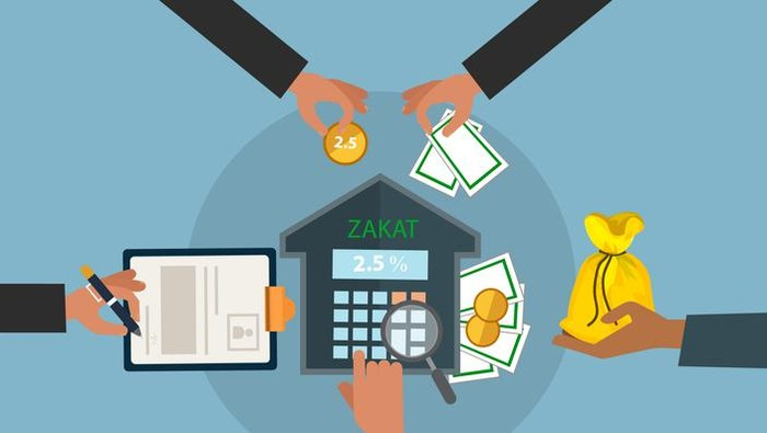 business hand donation zakat concept moslem islam count counting money.