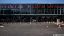 Stasiun Pasar Senen di Hari Pertama Larangan Mudik Lebaran