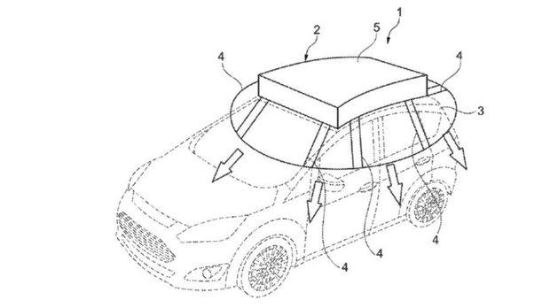 Gambar paten Ford solar shield