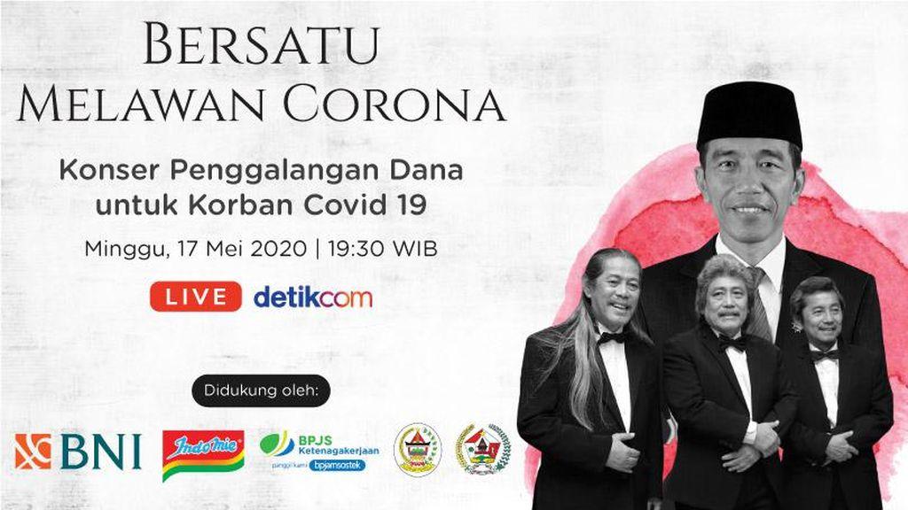 Saksikan Konser Amal Bersatu Melawan Corona Hanya di detikcom!