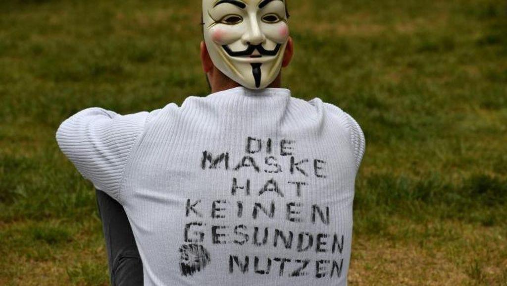 Pendukung Teori Konspirasi Corona dan Anti Lockdown Demo di Jerman