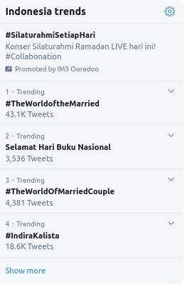 Trending Topik Hari Buku Nasional, (17/5/2020)