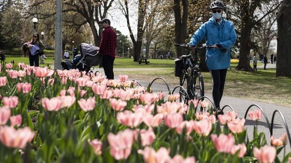 Cantiknya alam Kanada juga sering dijadikan sebagai background Zoom oleh traveler. Bersama dengan Brasil, Kanada duduk di peringkat kelima. (Justin Tang/The Canadian Press via AP)