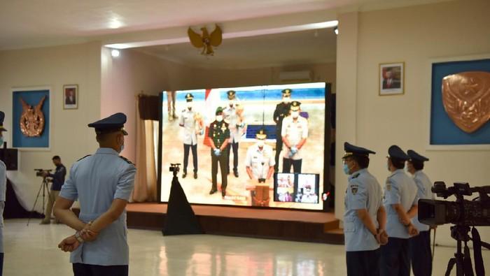Upacara Wing Day Sekbang A-97 45 penerbang TNI digelar via teleconference di Adi Soetjipsto