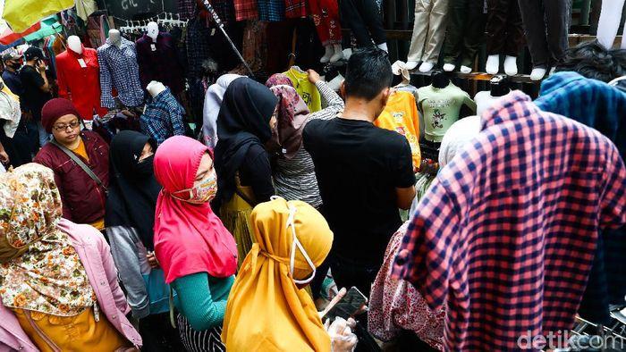 Begini suasana terkini Pasar Tanah Abang, Jakarta, Selasa (19/5/2020).