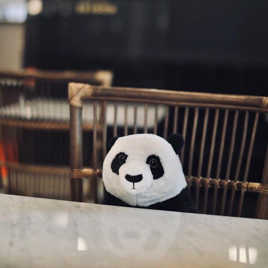 Boneka panda di restoran Maison Saigon
