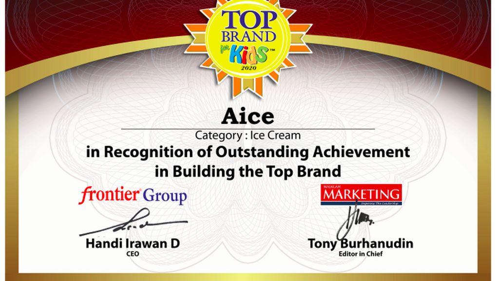 Kepercayaan Konsumen Meningkat, Aice Kembali Raih Top Brand Kids 2020