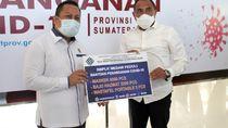 Gubsu Edy Terima Bantuan APD Hasil Karya Siswa BLK Medan