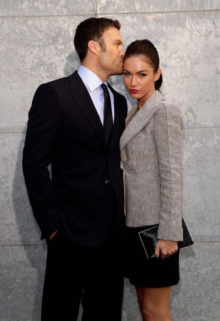 MILAN, ITALY - SEPTEMBER 25:  Megan Fox and Brian Austin Green attend the Emporio Armani Womenswear Spring/Summer 2011 fashion show during Milan Fashion Week on September 25, 2010 in Milan, Italy.  (Photo by Vittorio Zunino Celotto/Getty Images)