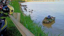 Pikap Bermuatan Ikan Nyemplung Laut di Jalur Pantura Rembang