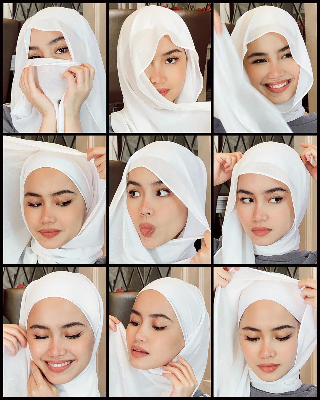 7 Tutorial Hijab Lebaran Cocok Buat Silaturahmi Online
