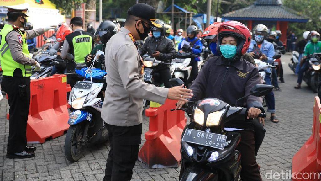 Hari Kesembilan PSBB Kota Malang, Polisi Tegur 1.494 Pelanggar