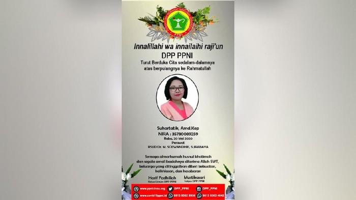 PPNI benarkan perawat Surabaya meninggal dunia