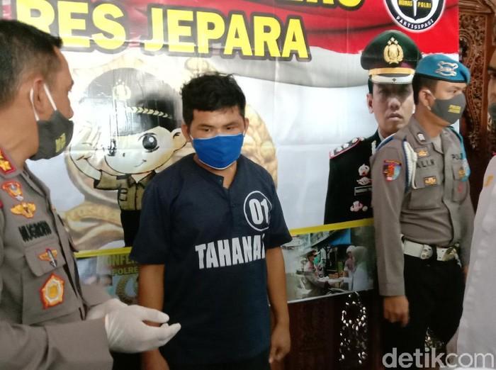 Jumpa pers pembunuhan Sintya di Polres Jepara, Rabu (20/5/2020).