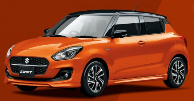 2020 Suzuki Swift facelift colours
