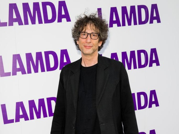 LONDON, ENGLAND - MAY 28:  Neil Gaiman attends the Global premiere of Amazon Original Good Omens at Odeon Luxe Leicester Square on May 28, 2019 in London, England. (Photo by Jeff Spicer/Getty Images)