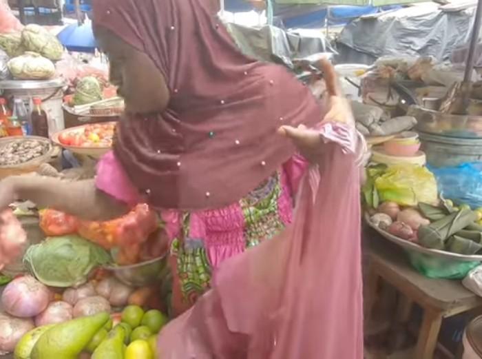 penjual sayur afrika