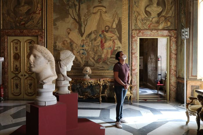 Italia mulai melonggarkan penerapan lockdown di kawasannya. Museum di kawasan itu pun kin mulai kembali dibuka untuk umum.
